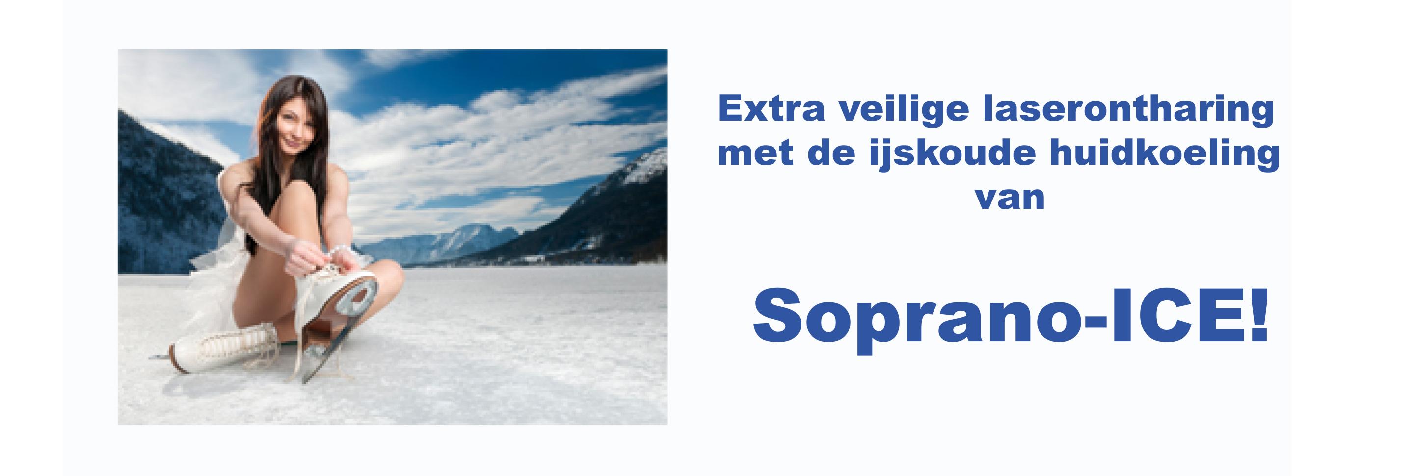 Extra veilige laserontharing met de ijskoude koeling van Soprano_ICE!