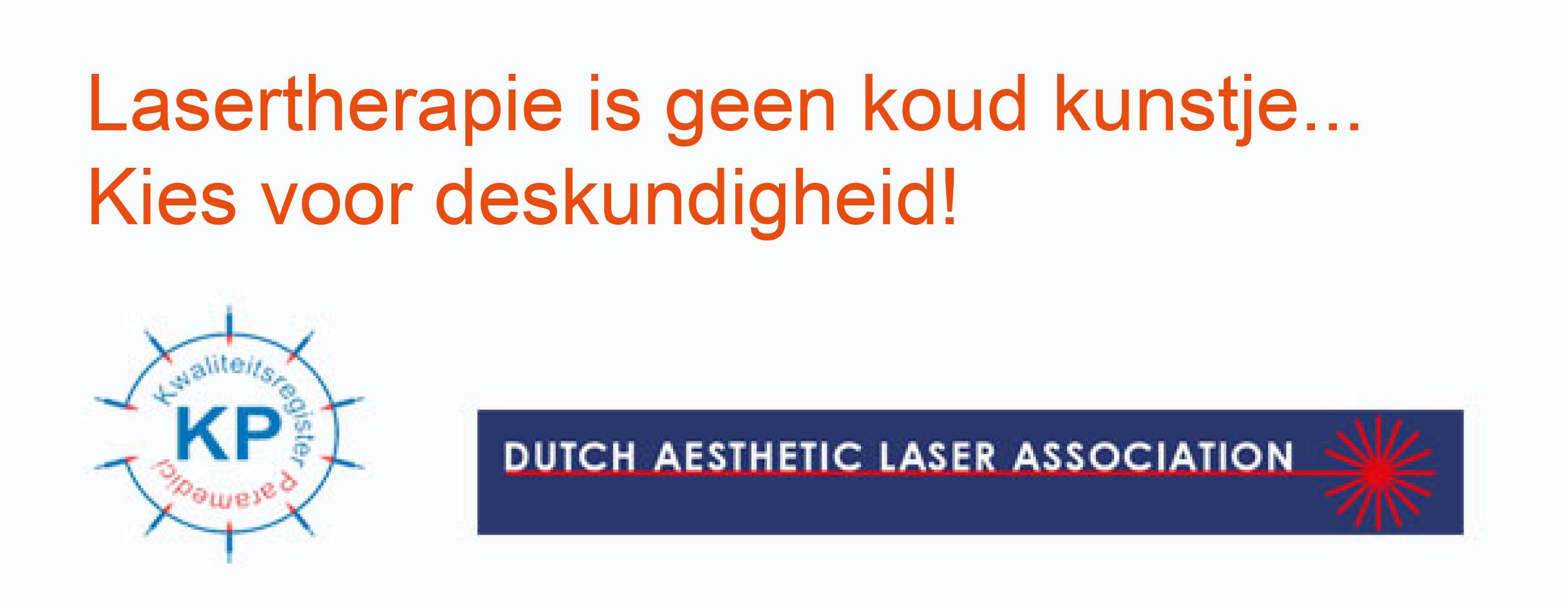Lasertherapie is geen koud kunstje..., kies voor deskundigheid!