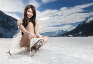 soprano ice dame op schaats